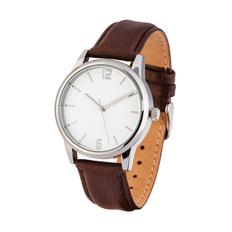 Часы наручные, коричневый/ серый фото