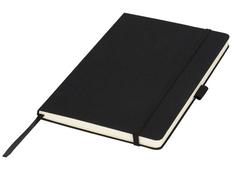 Блокнот в линейку на резинке Luxe А5, 80 листов, подарочнаяя упаковка, черный фото