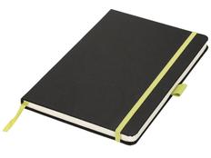 Блокнот в линейку на резинке Journalbooks Lasercut А5, 80 листов, черный/ лайм фото