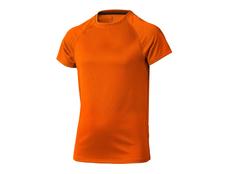 Футболка спортивная из сетки детская Elevate Niagara, оранжевая фото