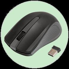 Мышь беспроводная Ritmix RMW 555, серая фото