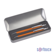 Набор CPen Ray: ручка шариковая металлическая, карандаш механический, оранжевый фото