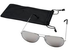 Очки солнцезащитные Aviator, серебристые фото