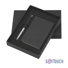 Набор подарочный Chili Корсика: блокнот Рим А6, ручка шариковая Skil, soft touch, черный фото