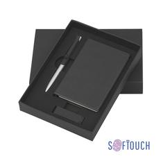 Подарочный набор Сан-ремо, покрытие soft touch, черный фото