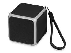 Колонка портативная Cube с подсветкой, черная фото