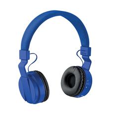 Наушники беспроводные накладные складные Bluetooth, синие фото