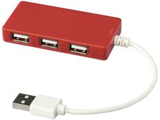 Разветвитель USB на 4 порта Brick, красный фото