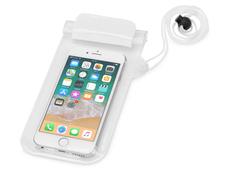 Чехол для телефона водонепроницаемый на шею Mambo, белый/ прозрачный фото