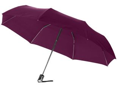 """Зонт складной автомат женский Alex 21,5"""", фиолетовый фото"""