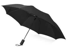 Зонт складной полуавтомат Tulsa, черный фото