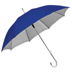 Зонт трость двухсторонний полуавтомат Silver, синий / серебристый фото