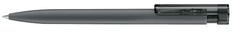 Ручка шариковая пластиковая Senator Liberty Soft Touch Clip Clear, серая фото
