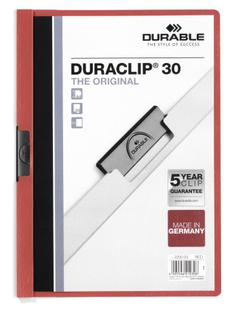 Папка с клипом DURACLIP ORIGINAL 30, красная фото
