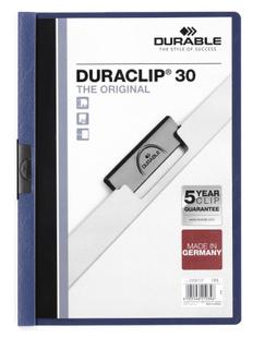Папка с клипом DURACLIP ORIGINAL 30, синяя фото