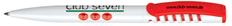 Ручка шариковая пластиковая Senator New Spring Basic, белая / красная фото