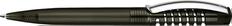 Ручка шариковая пластиковая Senator New Spring Clear, прозрачная черная / серебристая фото