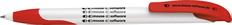 Ручка шариковая пластиковая Senator Challenger Soft, белая / красная фото