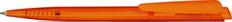 Ручка шариковая пластиковая Senator Dart Clear, ярко-оранжевая фото