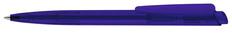 Ручка шариковая пластиковая Senator Dart Clear, прозрачная синяя фото