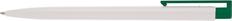 Ручка шариковая пластиковая Senator New Hit, белая / зеленая фото