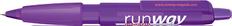 Ручка шариковая пластиковая Senator Big Pen XL Frosty, фиолетовая фото