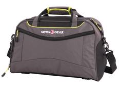 Сумка спортивная Swissgear, серая/ салатовая фото