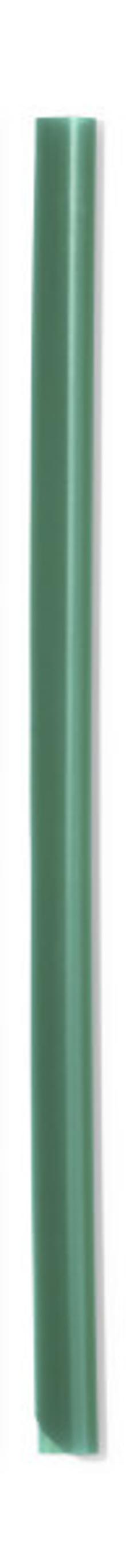 Скрепкошина для документов А4, 3 мм, зеленая фото