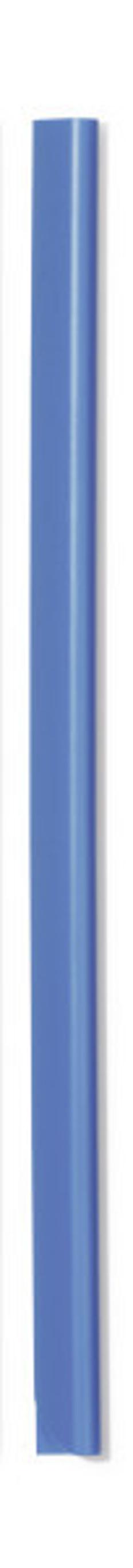 Скрепкошина для документов А4, 3 мм, голубая фото