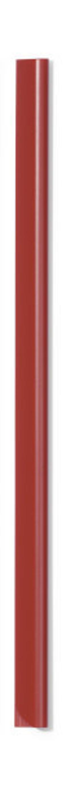 Скрепкошина для документов А4, 6 мм, красная фото