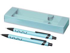 Набор Jupiter: ручка шариковая пластиковая, карандаш механический, зеленый / черный фото