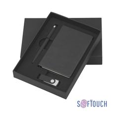 Подарочный набор Сорренто с блокнотом А6, покрытие soft touch, синий, черный фото