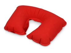 Подушка надувная под голову в чехле, красный фото