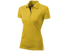 Футболка поло женская US Basic First, желтая фото