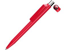 Ручка шариковая пластиковая Uma On Top Si F, красная фото