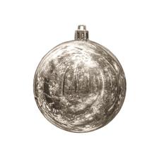 Шар новогодний Gloss, серый фото