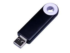 Флешка USB 3.0 на 32 Гб Промо, выдвижной механизм, черная/ белая фото