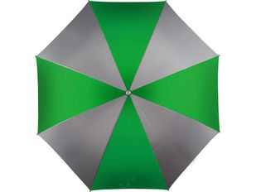 Зонт трость купол сегментами механический Форсайт, зеленый/ серый фото