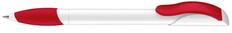 Ручка шариковая пластиковая Senator Hattrix Polished Basiс Soft grip zone, белая / красная фото