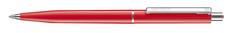 Ручка шариковая пластиковая Senator Point Polished, красная / серебристая фото
