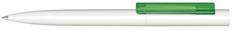 Ручка шариковая пластиковая Senator Headliner Polished Basic, зеленая / белая фото