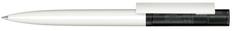 Ручка шариковая пластиковая Senator Headliner Clear Basic, белая / черная фото