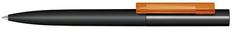Ручка шариковая пластиковая Senator Headliner Soft Touch, черная / оранжевая фото