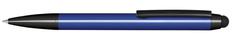 Ручка шариковая металлическая Senator Attract Stylus, синяя / черная фото