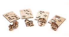 3D-пазл UGEARS Набор Трибики, древесный фото