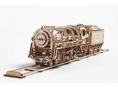 3D-пазл UGEARS Поезд, древесный фото