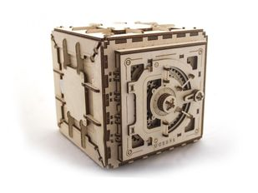 3D-пазл UGEARS Сейф, древесный фото