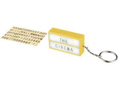 Брелок-фонарик Cinema, желтый фото