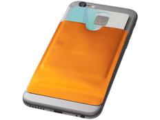 Бумажник для карт с RFID, оранжевый фото