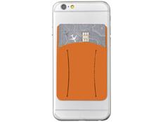 Картхолдер для телефона с отверстием для пальца, оранжевый фото